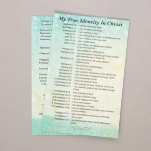 My True Identity in Christ Prayer Card